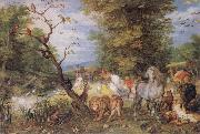 Jan Brueghel The Elder The Animals entering the Ark oil painting artist