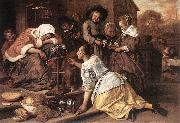 Jan Steen The Effects of Intemperance oil painting