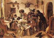 Jan Steen The World Upside Down oil painting