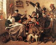 Jan Steen The Artist's Family oil painting