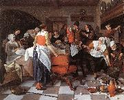 Jan Steen Celebrating the Birth oil painting artist