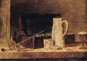 Jean Baptiste Simeon Chardin Pipe and Jug oil painting picture wholesale