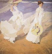 Joaquin Sorolla Y Bastida Walk on the Beach oil painting picture wholesale