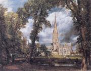 John Constable Salisbury Cathedral from the Bishop's Ground oil painting picture wholesale