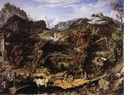Joseph Anton Koch Swiss Landscape oil painting picture wholesale