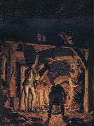 Joseph wright of derby An Iron Forge Viewed from Without oil painting picture wholesale