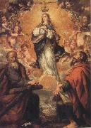 Juan de Valdes Leal Virgin of the Immaculate Conception with Sts.Andrew and Fohn the Baptist oil painting picture wholesale