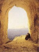 Karl Blechen Monks at the Gulf of Naples oil painting picture wholesale