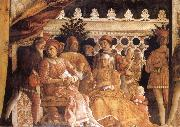 MANTEGNA, Andrea The Gonzaga Family and Retinue finished oil painting picture wholesale