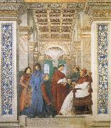 Melozzo da Forli Sixtus IV,his Nephews and his Librarian Palatina oil painting picture wholesale