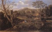 Nicolas Poussin Landscape with Three Men oil painting picture wholesale