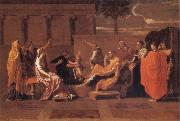 Nicolas Poussin Moses Trampling on the Pharaoh's Crown oil painting picture wholesale