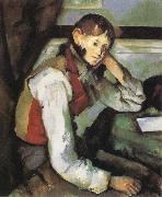 Paul Cezanne Boy with a Red Waistcoat Sweden oil painting reproduction