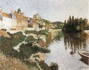 Paul Signac Riverbank,Petie Andely oil painting picture wholesale
