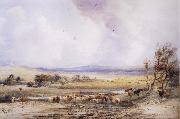Peter Dewint View on the Lowther,with Cattle in the Water oil painting picture wholesale