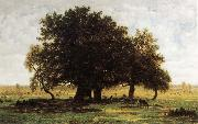 Theodore Rousseau Oak Trees near Apremont oil painting picture wholesale