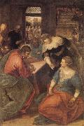 Tintoretto Christ with Mary and Martha oil painting picture wholesale