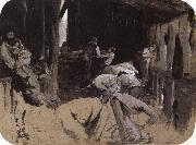 Tom roberts First sketch for Shearing the Rams oil painting picture wholesale