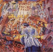 Umberto Boccioni The Noise of the Street Enters the House oil painting picture wholesale