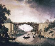 William Williams View of Ironbridge oil painting artist