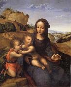 YANEZ DE LA ALMEDINA, Fernando Madonna and Child with Infant St.Fohn oil painting picture wholesale