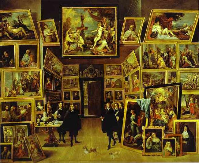 David Teniers Archduke Leopold William in his Gallery in Brussels oil painting picture