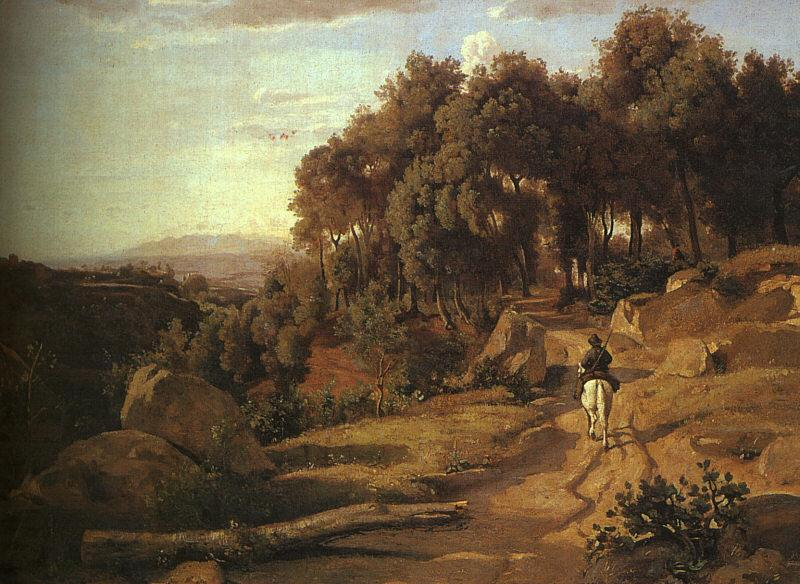 Jean Baptiste Camille  Corot A View near Volterra_1 oil painting image