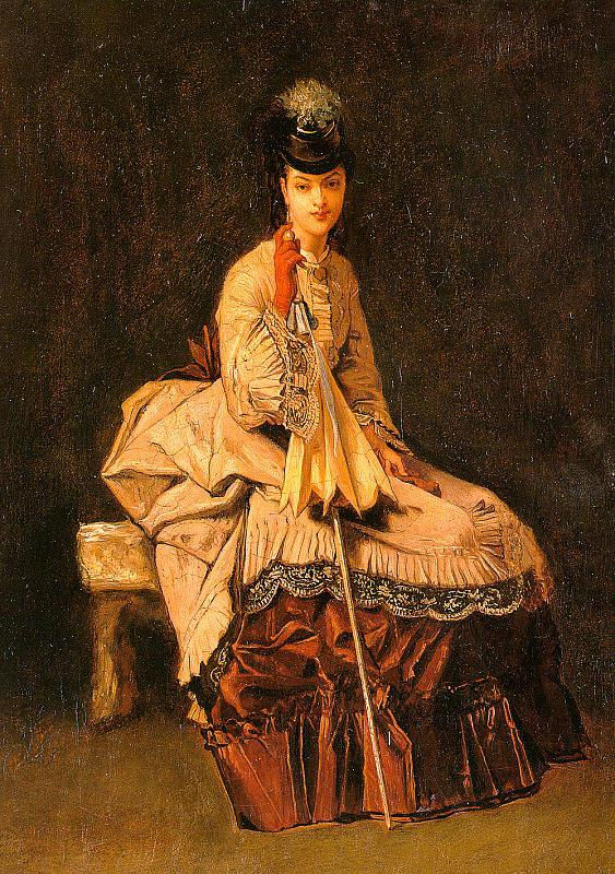 Jules-Adolphe Goupil Lady Seated oil painting image