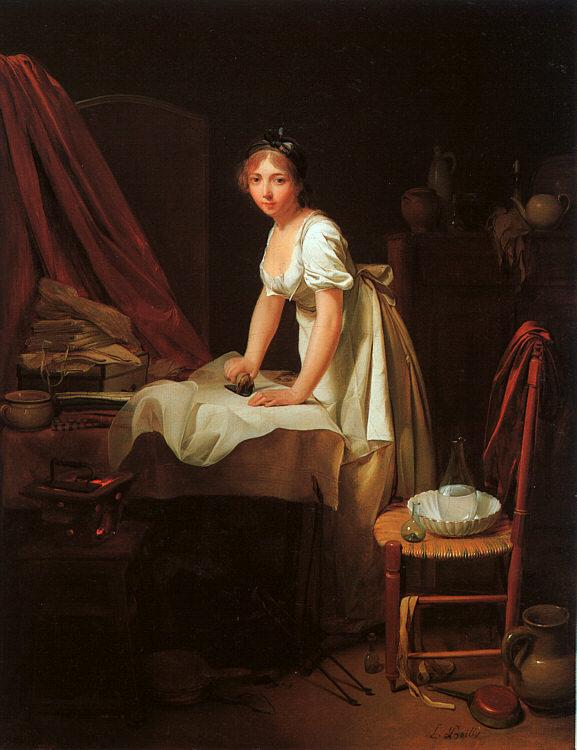 Louis Leopold  Boilly Young Woman Ironing oil painting image