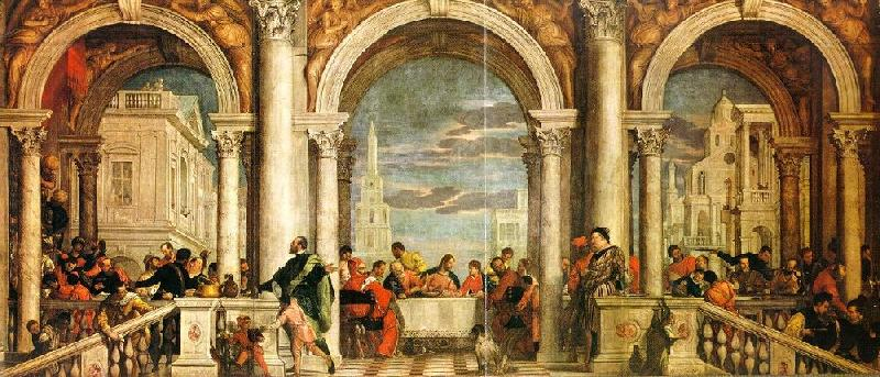 Paolo  Veronese Feast in the House of Levi oil painting image