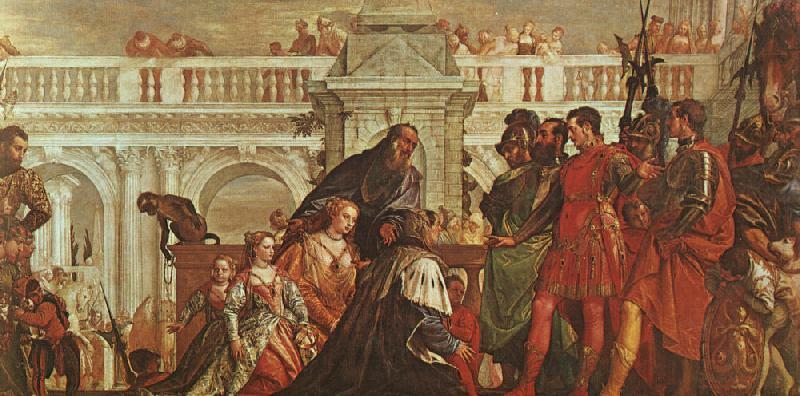 Paolo  Veronese The Family of Darius before Alexander Sweden oil painting art