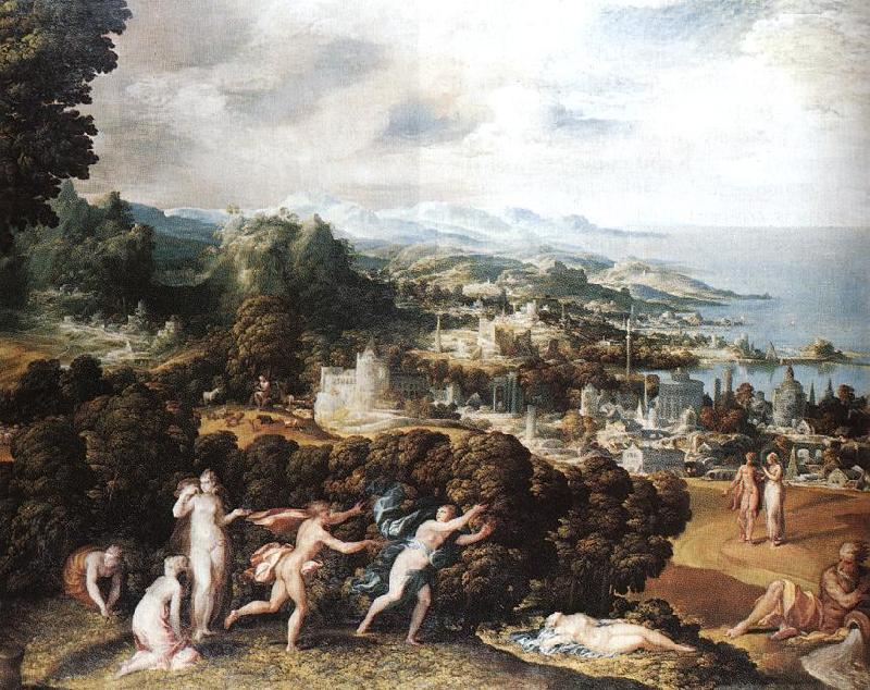 ABBATE, Niccolo dell Orpheus and Eurydice Sweden oil painting art