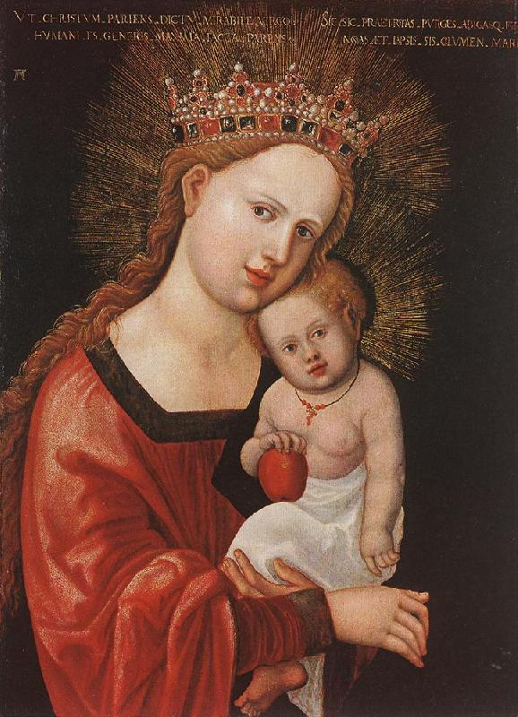 ALTDORFER, Albrecht Mary with the Child  kkk Sweden oil painting art