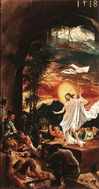ALTDORFER, Albrecht The Resurrection of Christ  jjkk Sweden oil painting art