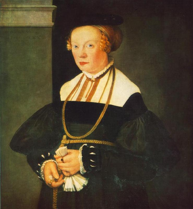 AMBERGER, Christoph Portrait of Felicitas Seiler oil painting image