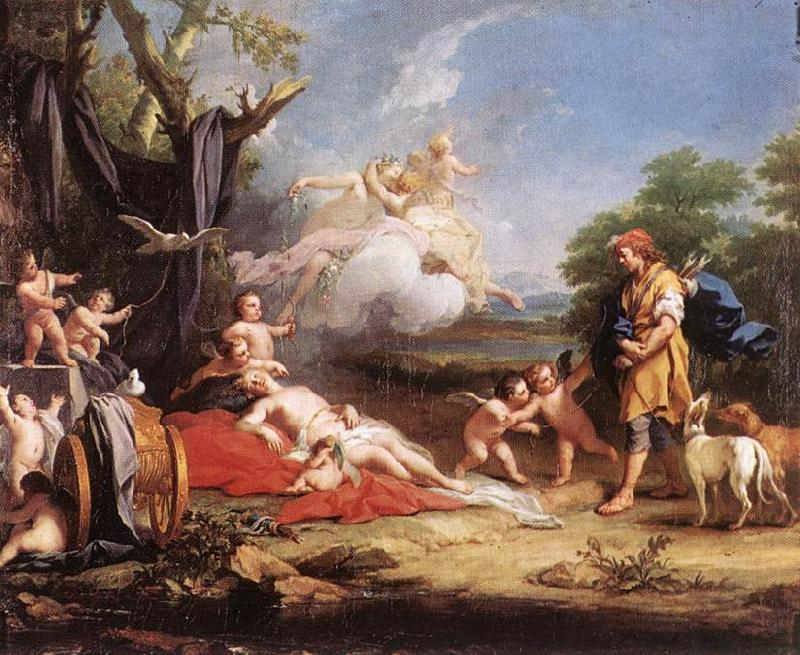 AMIGONI, Jacopo Venus and Adonis ssd oil painting image