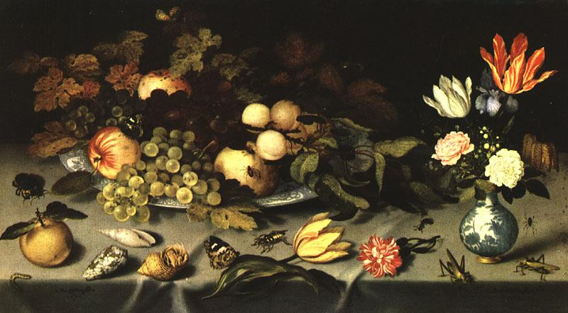 AST, Balthasar van der Flowers and Fruit  fg oil painting image