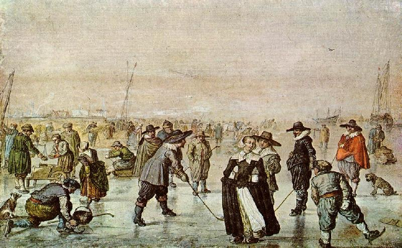 AVERCAMP, Hendrick A Scene on the Ice vf Sweden oil painting art