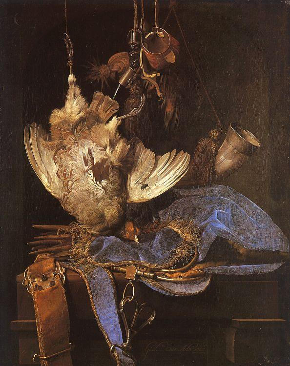 Aelst, Willem van Still Life with Hunting Equipment oil painting image
