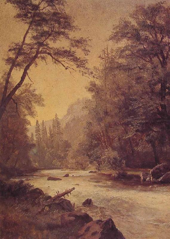 Albert Bierstadt Lower Yosemite Valley oil painting image