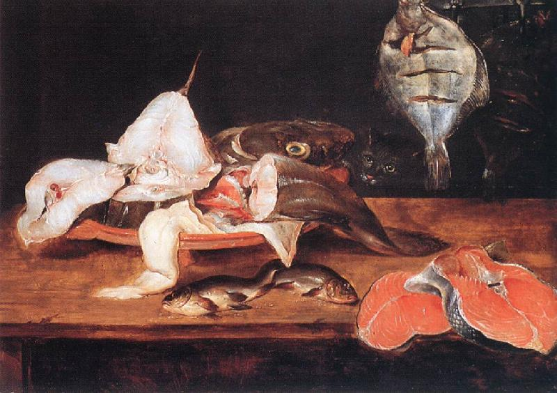 Alexander Still-Life with Fish Sweden oil painting art