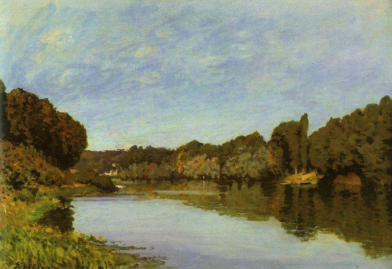 Alfred Sisley The Seine at Bougival Sweden oil painting art