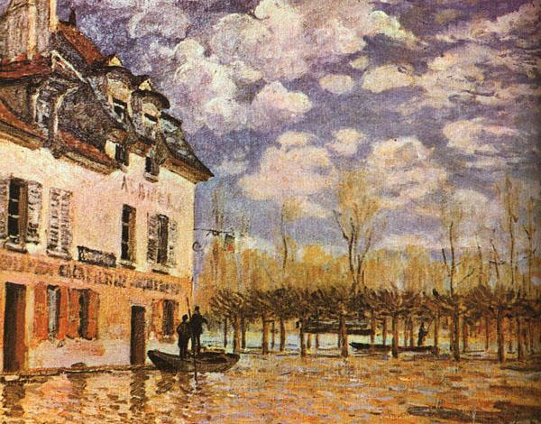 Alfred Sisley Boat During a Flood Sweden oil painting art