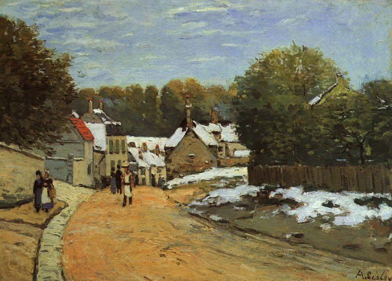 Alfred Sisley Early Snow at Louveciennes Sweden oil painting art