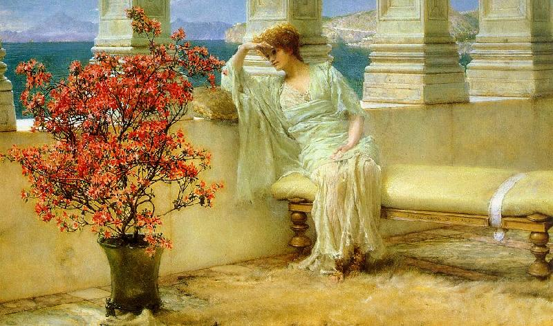 Alma Tadema Her Eyes are with Her Thoughts oil painting image
