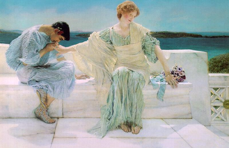 Alma Tadema  Ask Me No More oil painting image