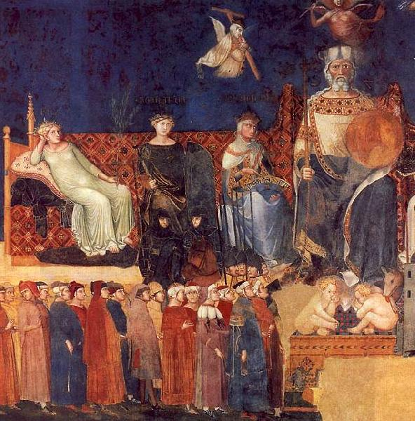 Ambrogio Lorenzetti Allegory of Good Government Sweden oil painting art