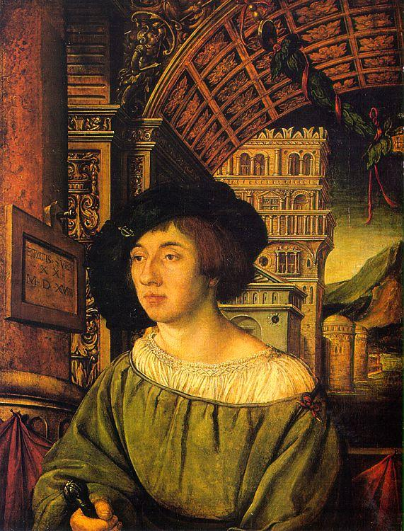 Ambrosius Holbein Portrait of a Young Man Sweden oil painting art