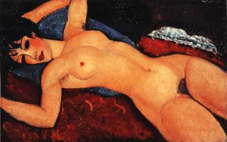 Amedeo Modigliani Nude (Nu Couche Les Bras Ouverts) oil painting image
