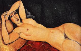 Amedeo Modigliani Reclining Nude with Arm Across Her Forehead oil painting image